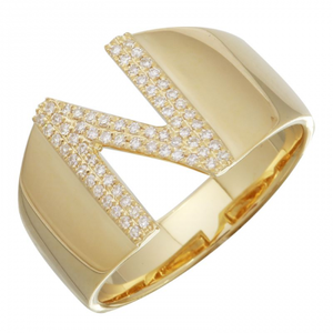 Nogama Initial Diamond Ring