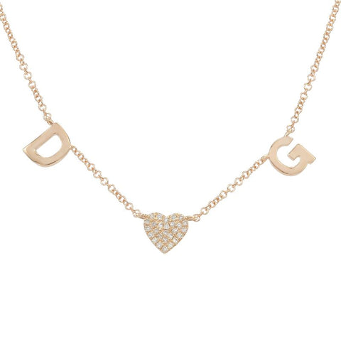 Nogama Collection 14k Rose Gold Custom Diamond Necklace