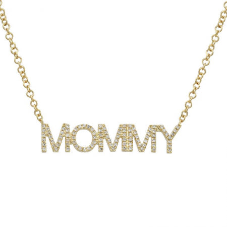 Nogama Collection Mommy Diamond Necklace