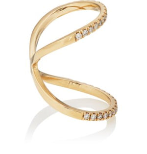 Nogama Collection Diamond Pave Knuckle Ring