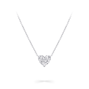 Heart Diamond Solitaire Necklace