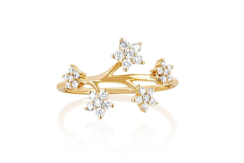 EF Collection Diamond Bouquet Ring