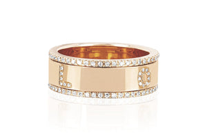 EF Collection Diamond LOVE Spinning Ring