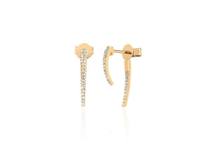 EF Collection Diamond Hook Earrings