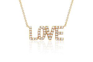 EF Collection Mini Diamond LOVE Necklace