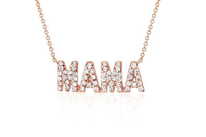 EF Collection Diamond MAMA Initial Necklace