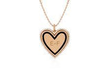 EF Collection Diamond and Black Enamel Heart Necklace