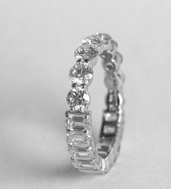 Half and Half Diamond Eternity Band