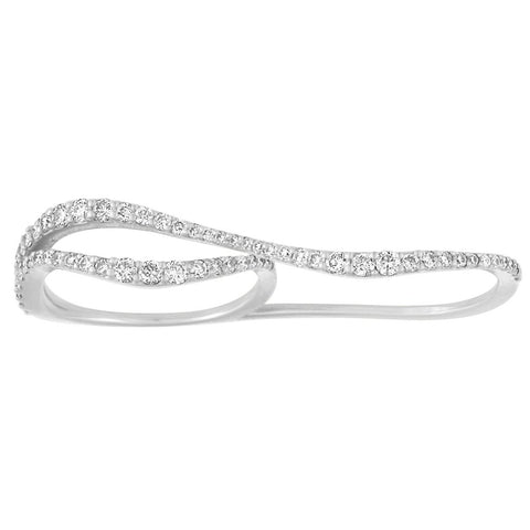 Nogama Collection Wavy Two Finger Ring
