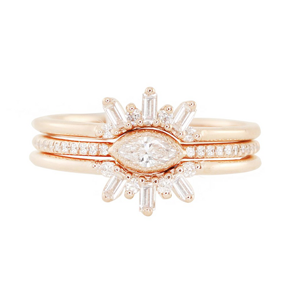 Luna Skye Marquise Diamond Ring Set
