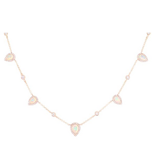 Luna Skye Teardrop Moonstone Choker Necklace