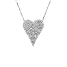 Medium Diamond Pave Heart Necklace