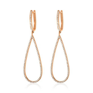 Jane Kaye Open Drop Pear Earrings