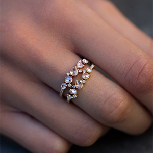 Luna Skye Rose Cut Diamond Cluster Ring