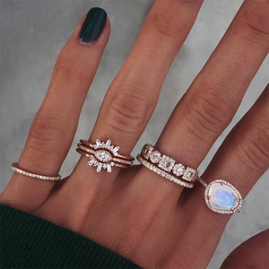 Luna Skye Diamond Geometric Ring