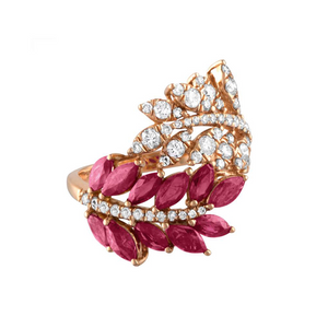 Jane Kaye Double Leaf Ring