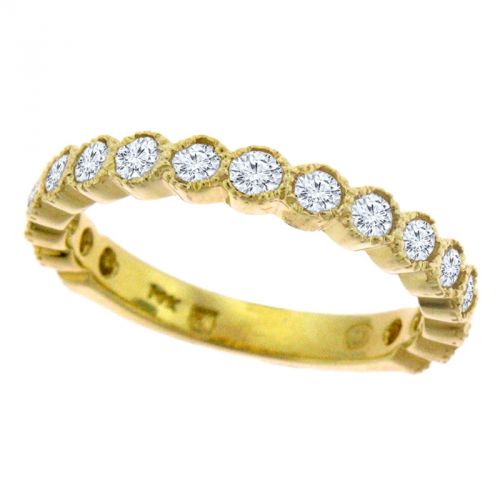 Vintage-inspired half eternity band