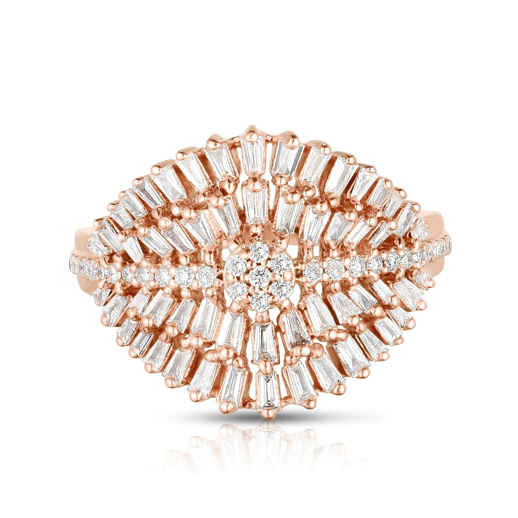 Luna Skye Feathered Baguette Diamond Ring