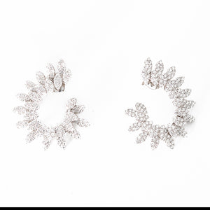 Nogama Pear Shape and Marquise Diamond Circle Earrings