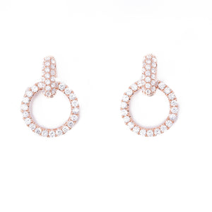 Diamond drop studs earrings
