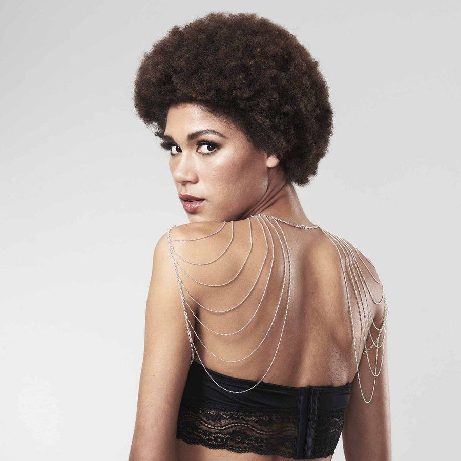 Woman wearing Magnifique · Shoulders and Back Jewelry showing back by Bijoux Indiscrets