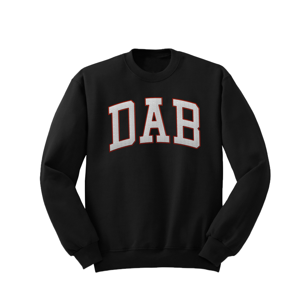 DAB™ Black Embroidered Crewneck