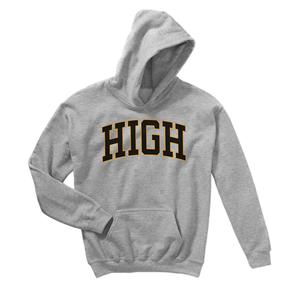 HIGH™ Gray Embroidered Hoodie