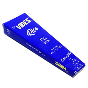 Vibes / 1.25 Rice - 6 Cones Single Pack