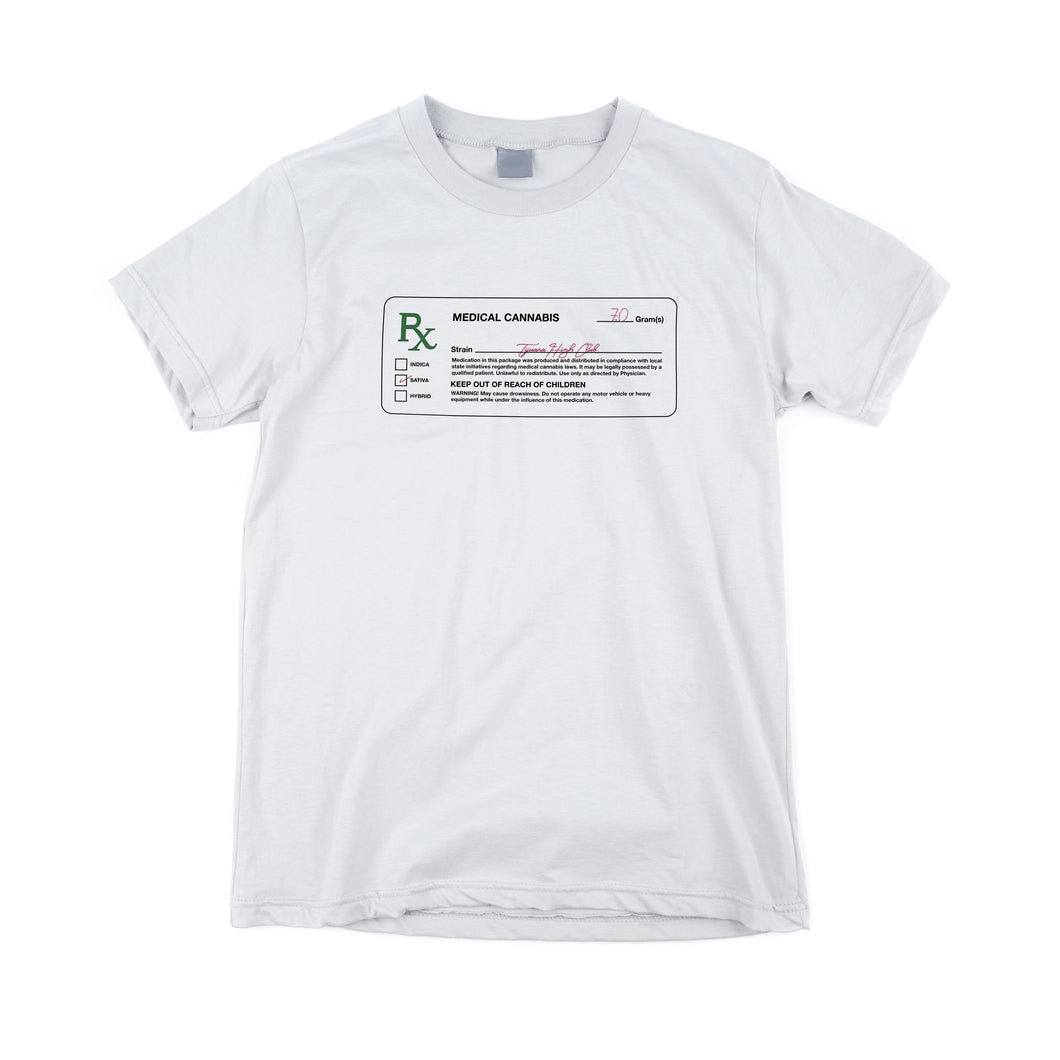 White RX Label  Tee