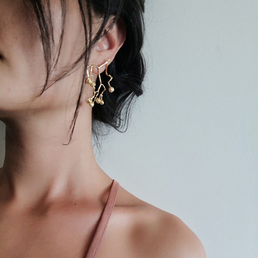 Grained Earrings