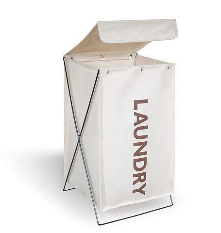 Collapsible Laundry Hamper with Wire Frame