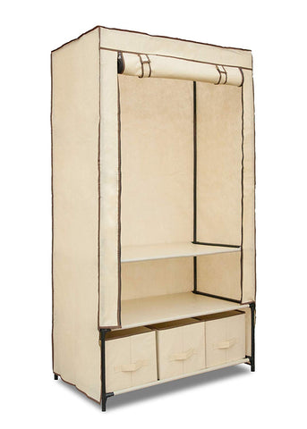 Freestanding Garment Organizer with Hanging Rack and Shelves