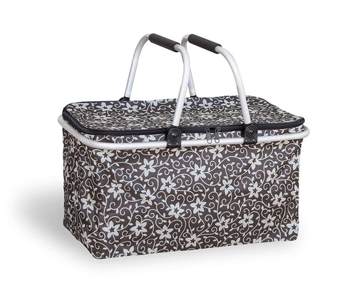 Insulated Fold-able Collapsible Picnic Basket with Carrying Handles