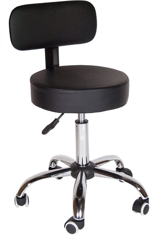 Rolling All-Purpose Stool (With Backrest)