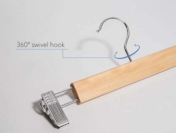 Pant and Skirt Hangers - Fixed Clips