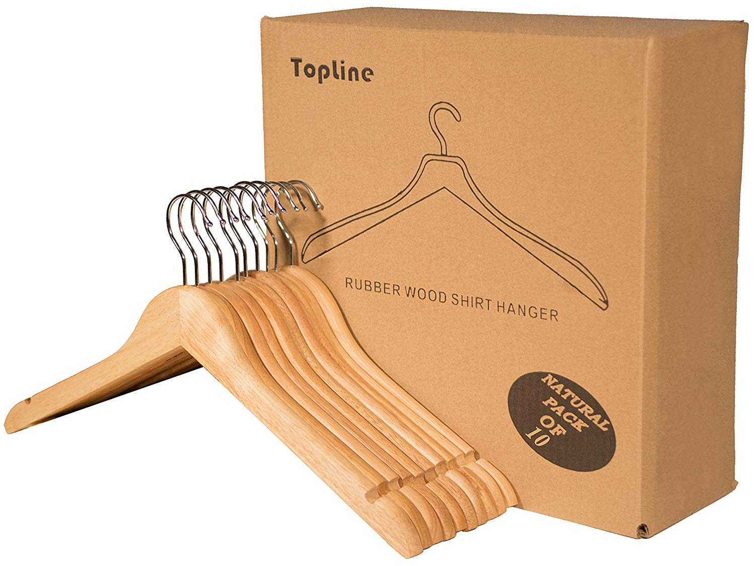 Shirt Hangers with Curved Notches