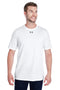 White Smoke Under Armour Men's Locker 2.0 Moisture Wicking Short Sleeve Crewneck T-Shirt
