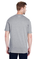 Gray Under Armour Men's Locker 2.0 Moisture Wicking Short Sleeve Crewneck T-Shirt