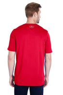 Firebrick Under Armour Men's Locker 2.0 Moisture Wicking Short Sleeve Crewneck T-Shirt