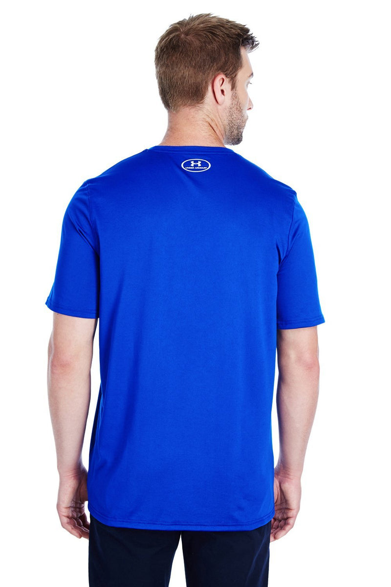 Royal Blue Under Armour Men's Locker 2.0 Moisture Wicking Short Sleeve Crewneck T-Shirt