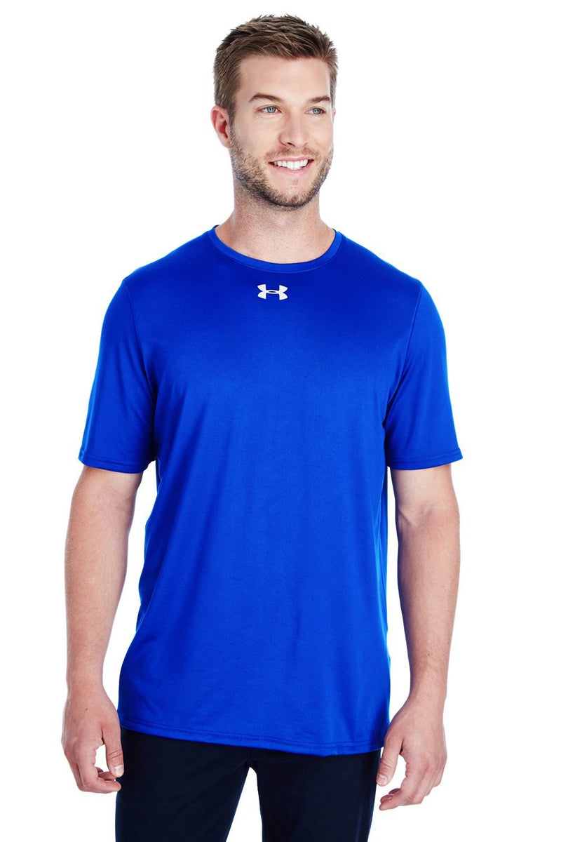 Medium Blue Under Armour Men's Locker 2.0 Moisture Wicking Short Sleeve Crewneck T-Shirt