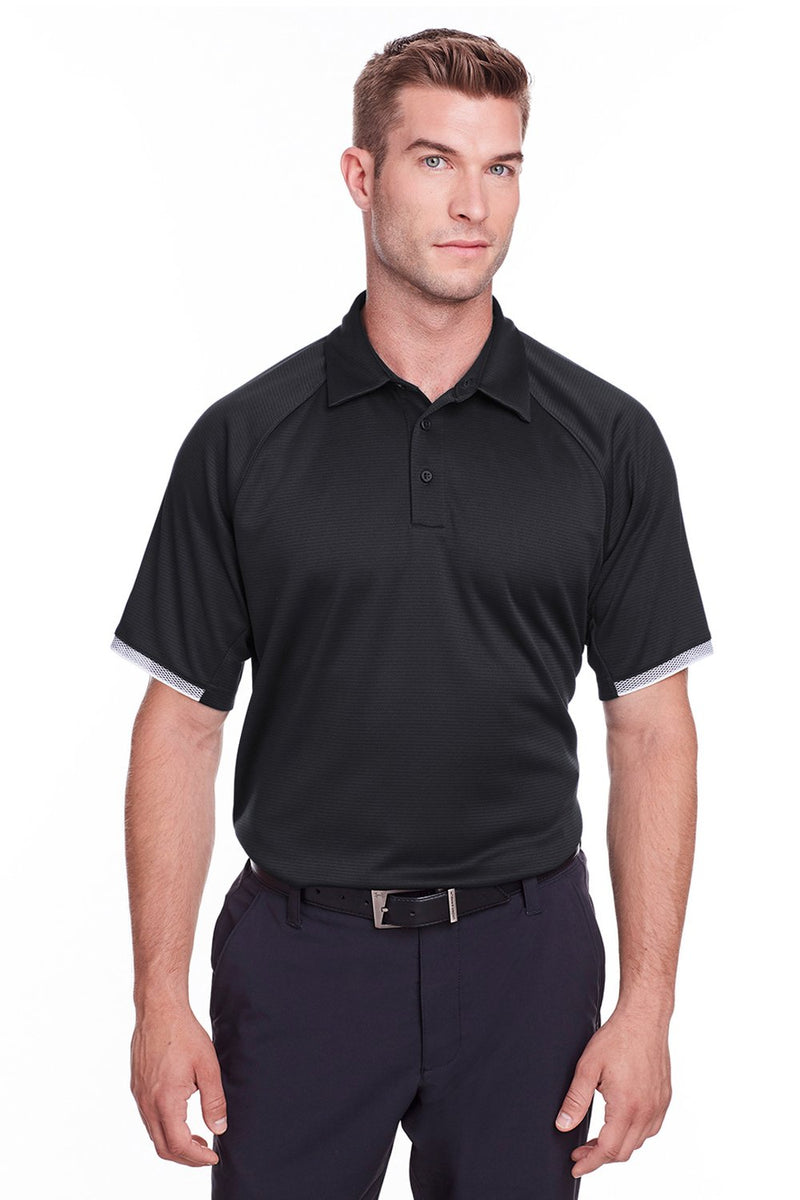 Dark Slate Gray Under Armour Men's Corporate Rival Performance Moisture Wicking Short Sleeve Polo Shirt