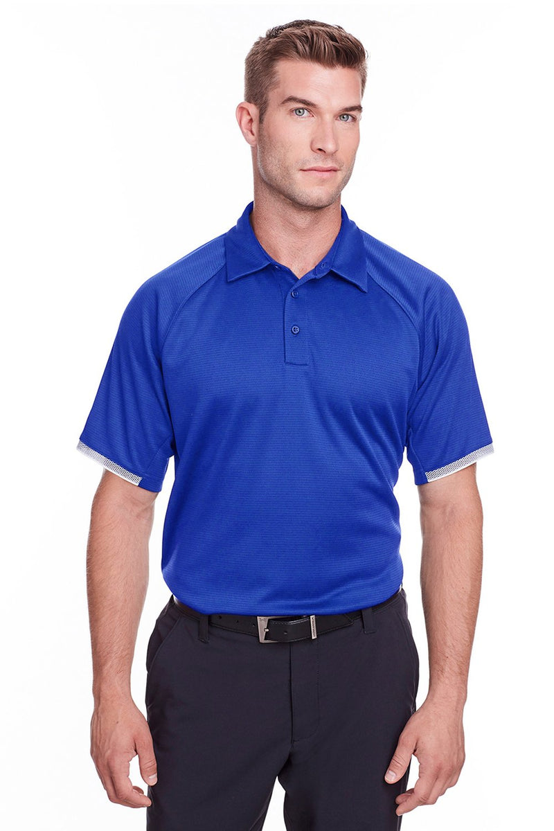 Dark Slate Blue Under Armour Men's Corporate Rival Performance Moisture Wicking Short Sleeve Polo Shirt