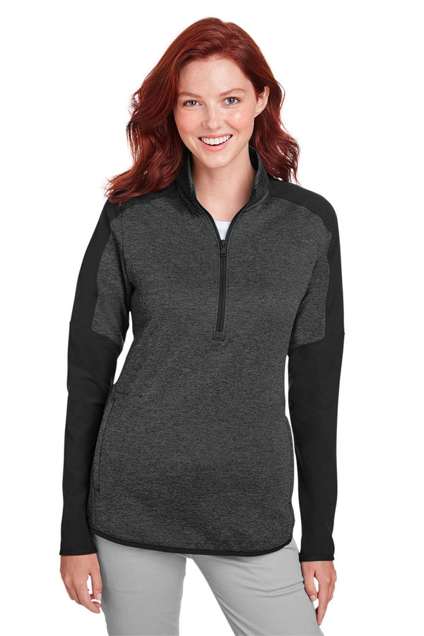 White Under Armour Women's Qualifier Corporate Performance Moisture Wicking Hybrid 1/4 Zip Sweatshirt