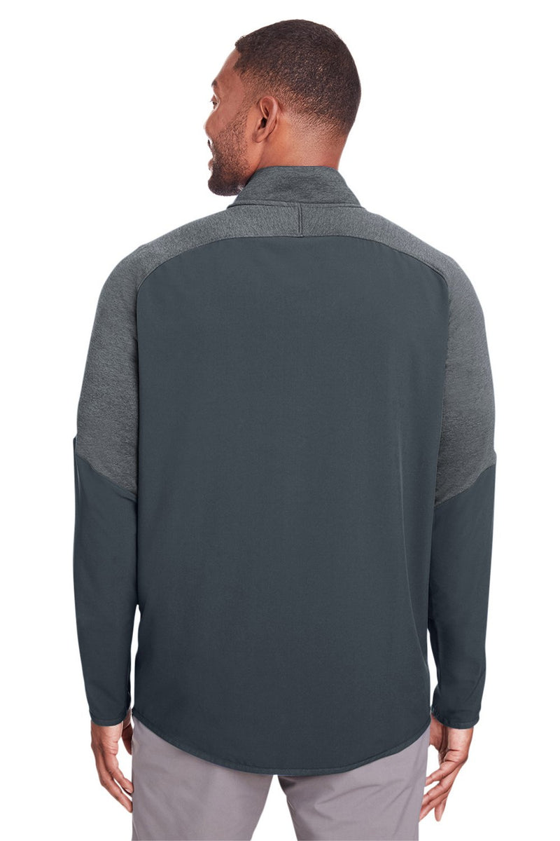 Dark Slate Gray Under Armour Men's Qualifier Corporate Performance Moisture Wicking Hybrid 1/4 Zip Sweatshirt