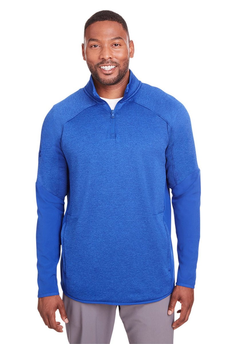 Royal Blue Under Armour Men's Qualifier Corporate Performance Moisture Wicking Hybrid 1/4 Zip Sweatshirt