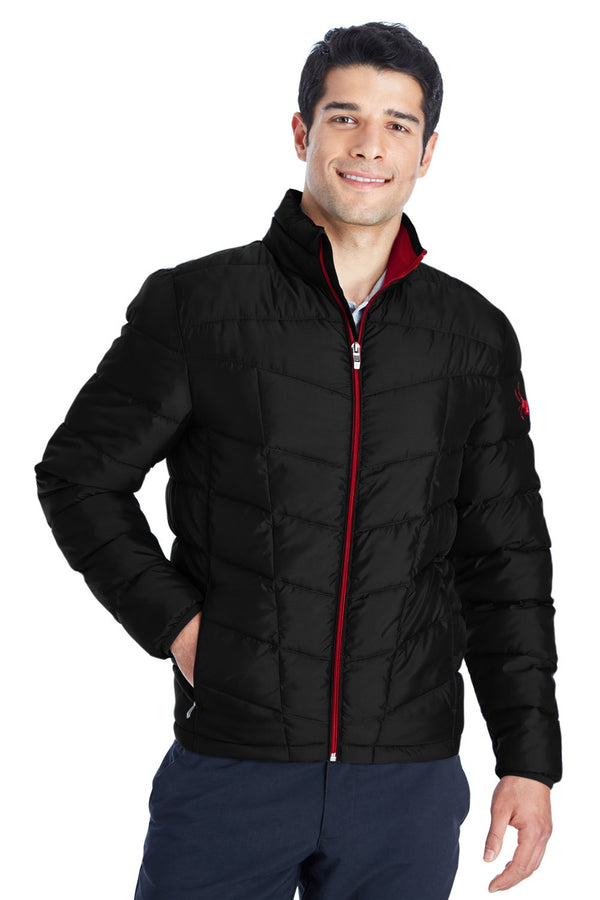 White Spyder Men's Pelmo Puffer Full Zip Jacket