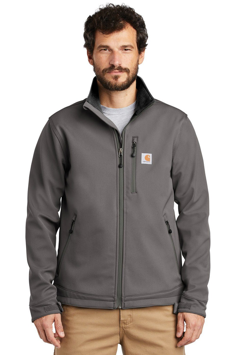 White Carhartt Men's Crowley Wind & Water Resistant Full Zip Jacket