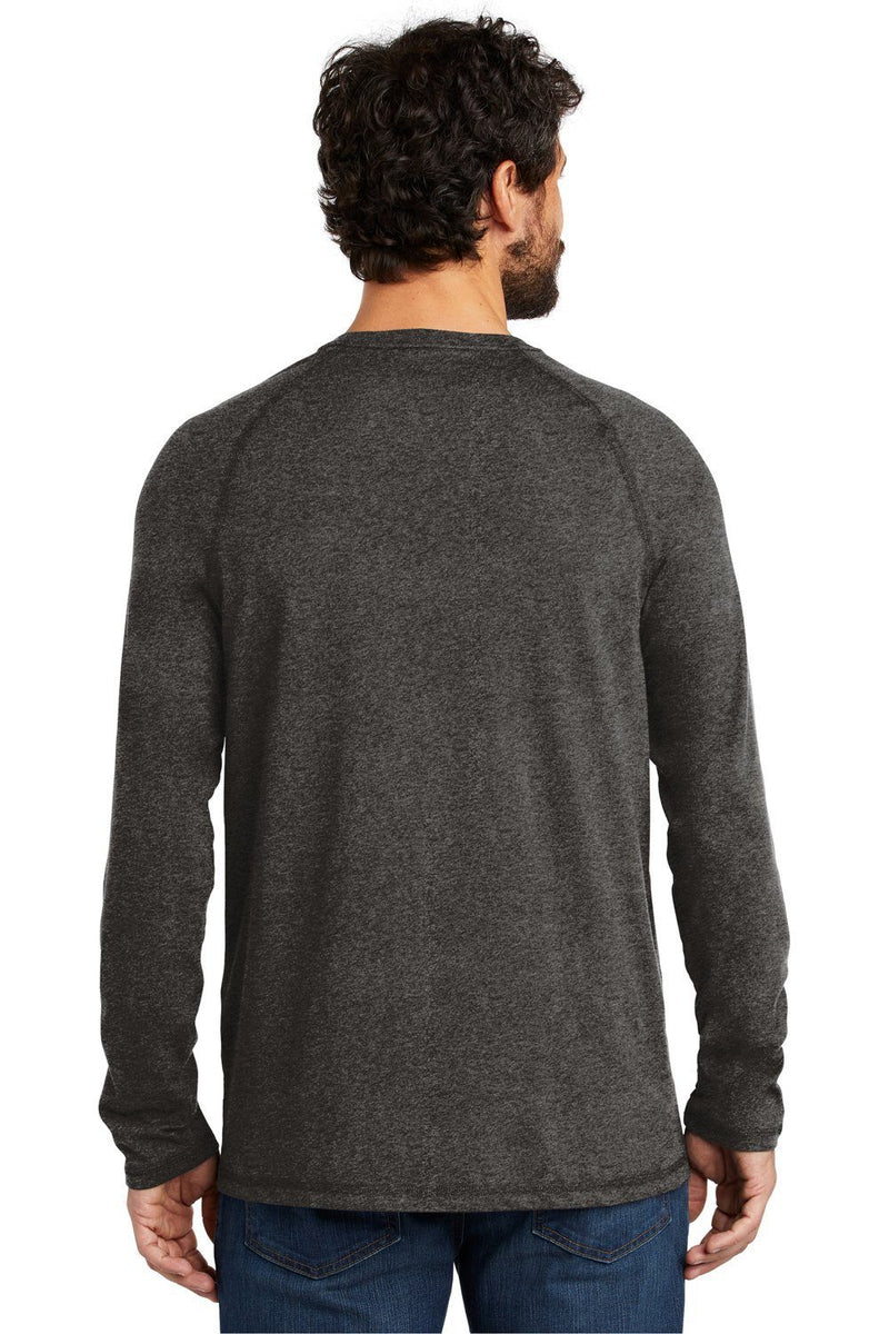 Dark Slate Gray Carhartt Men's Delmont Moisture Wicking Long Sleeve Crewneck T-Shirt w/ Pocket