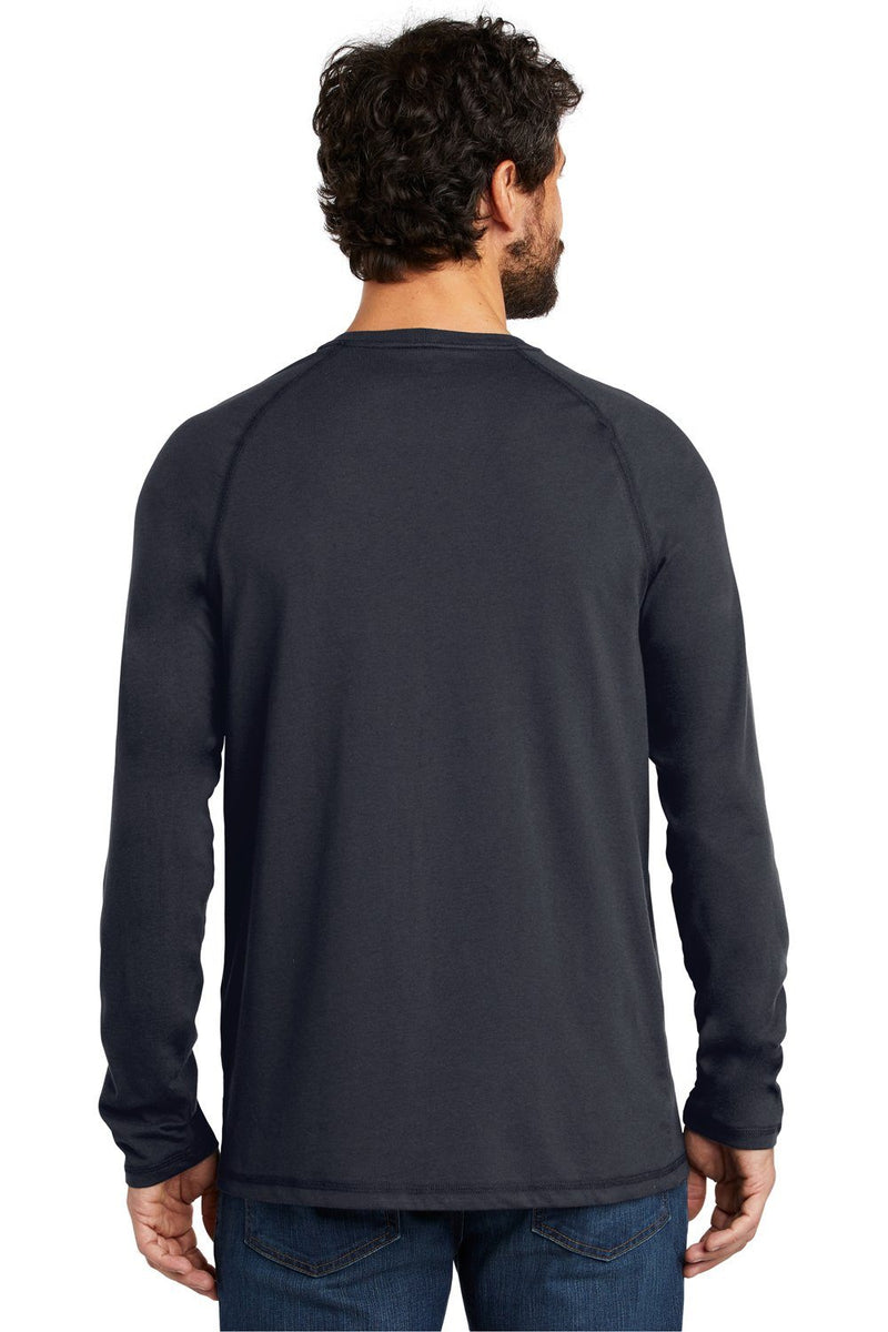 Carhartt Mens Delmont Moisture Wicking Long Sleeve Crewneck T-Shirt w/ Pocket Mens T-Shirts Carhartt